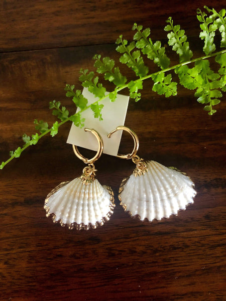 UBUD Shell Earrings-Accessories- Boheme Junction