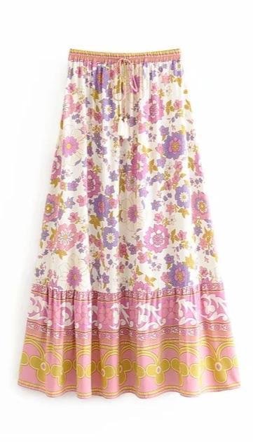 WOODSTOCK Maxi Skirt-Skirts- Boheme Junction