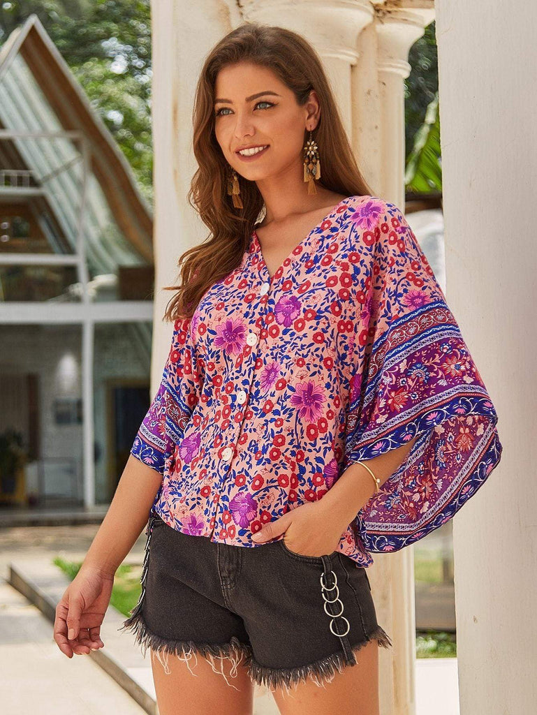 ZARAH Top - Pink-Top- Boheme Junction