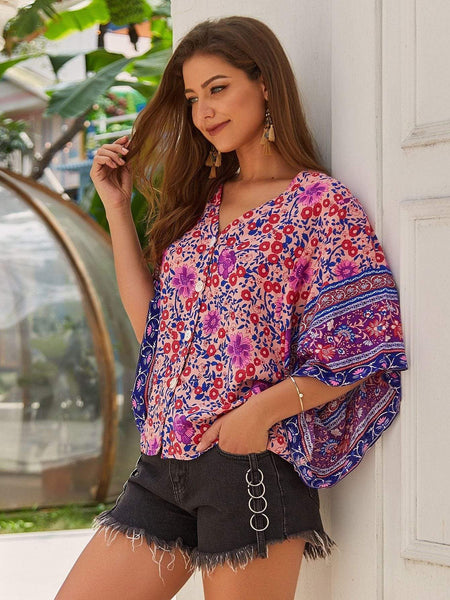 ZARAH Top - Pink ONE LEFT!-Top- Boheme Junction