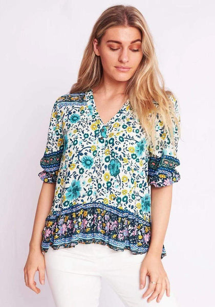 ZELLA Top - Jade-Top- Boheme Junction