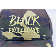 Black Excellence Camo Fitted Hat