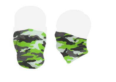 Neon Camouflage Pattern Face Covering