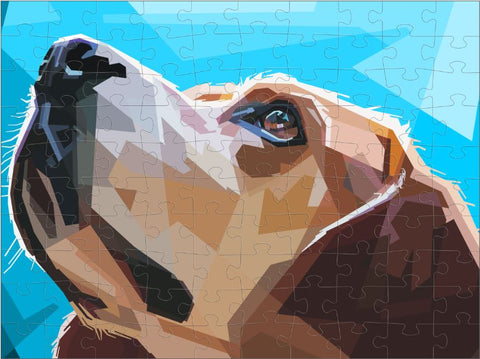 Dog Illustrated 120 Piece Puzzle