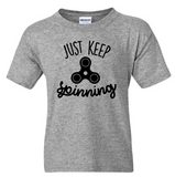 Just Keep Spinning Youth T-Shirt