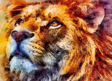 Lion Painting 120 Piece Puzzle