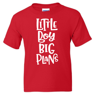 Little Boy Big Plans Youth T-Shirt