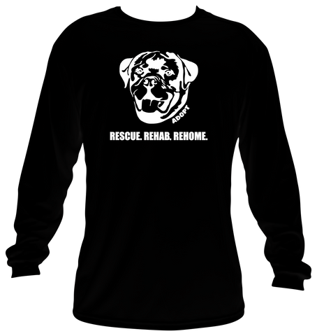 ROTTWEILER HEAD LOGO (Long Sleeve Shirt)