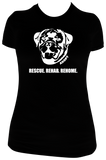 ROTTWEILER HEAD LOGO (Women's Scoop Neck T-Shirt)