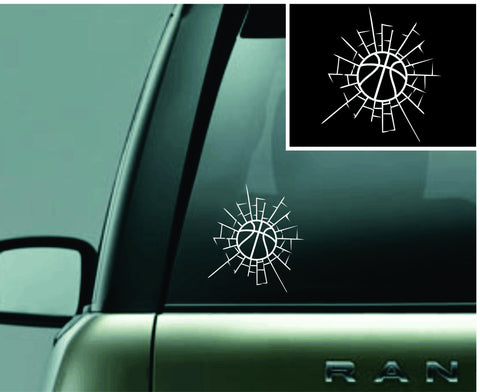 Shatter Basketball Decal