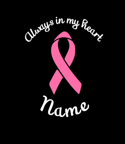 ALWAYS IN MY HEART RIBBON DECAL