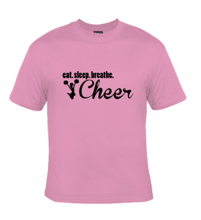 eat.sleep.breath. Cheer T-Shirt