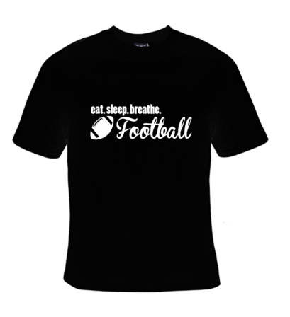Eat.Sleep.Breath. Football T-Shirt