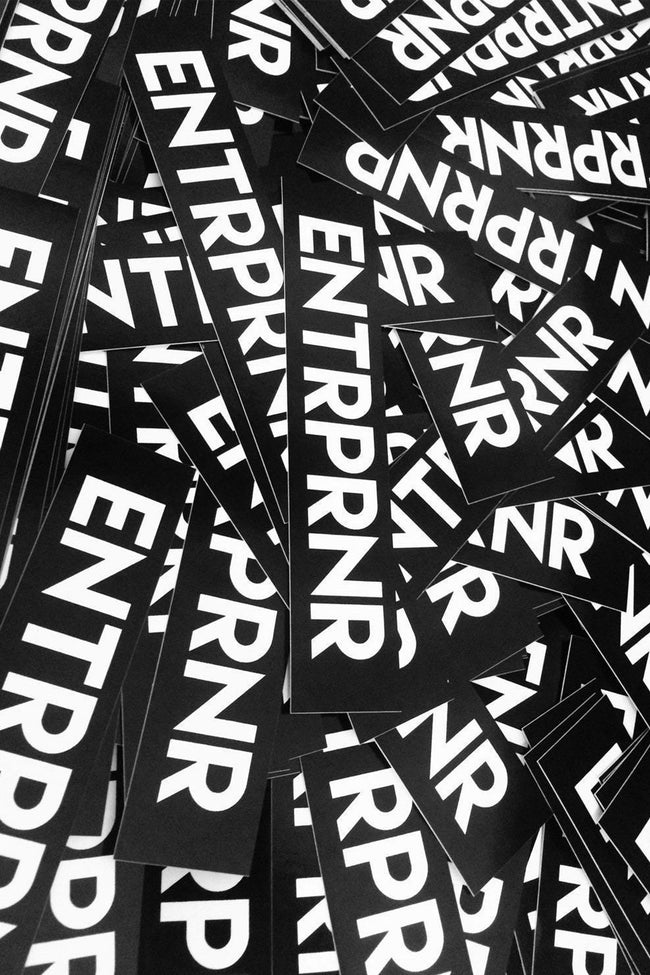 Classic ENTRPRNR Stickers - ENTRPRNR® | The Entrepreneur's Clothing Brand. | Stagnancy is the Enemy. Action is King.