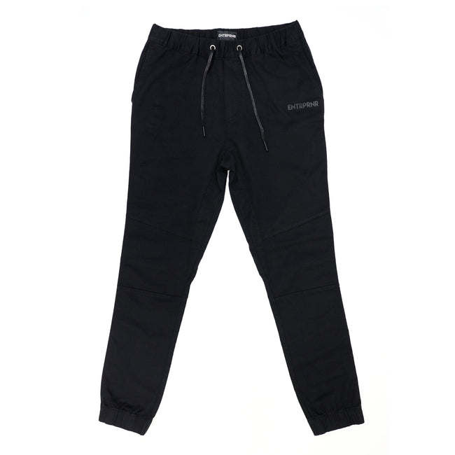 Cotton Twill Chino ENTRPRNR Joggers – Black - ENTRPRNR® | The Entrepreneur's Clothing Brand. | Stagnancy is the Enemy. Action is King.