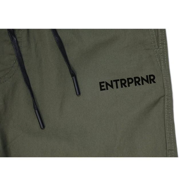 Cotton Twill Chino Joggers - Olive - ENTRPRNR® | The Entrepreneur's Clothing Brand. | Stagnancy is the Enemy. Action is King.