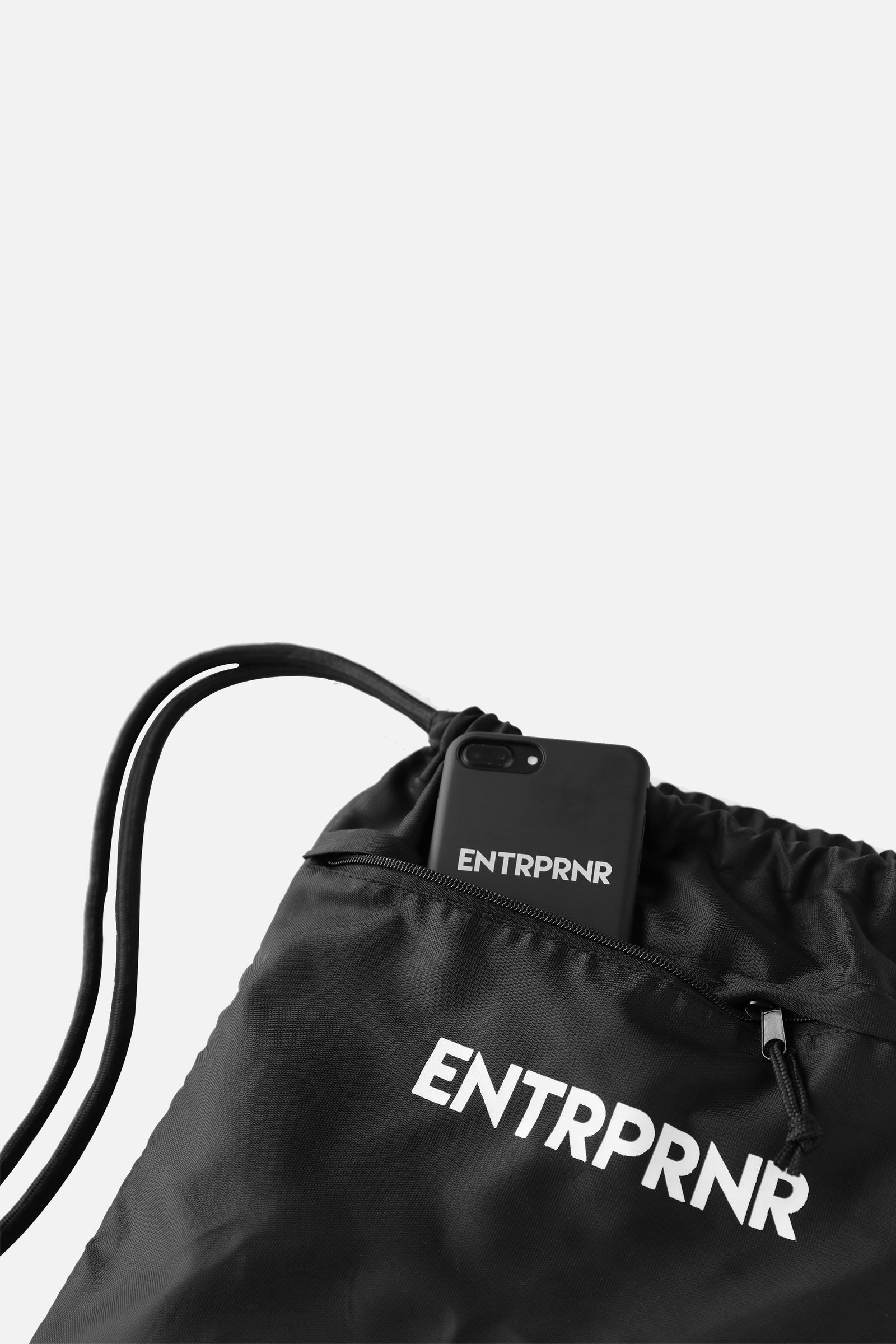 ENTRPRNR Drawstring Bag - ENTRPRNR® | The Entrepreneur's Clothing Brand. | Stagnancy is the Enemy. Action is King.