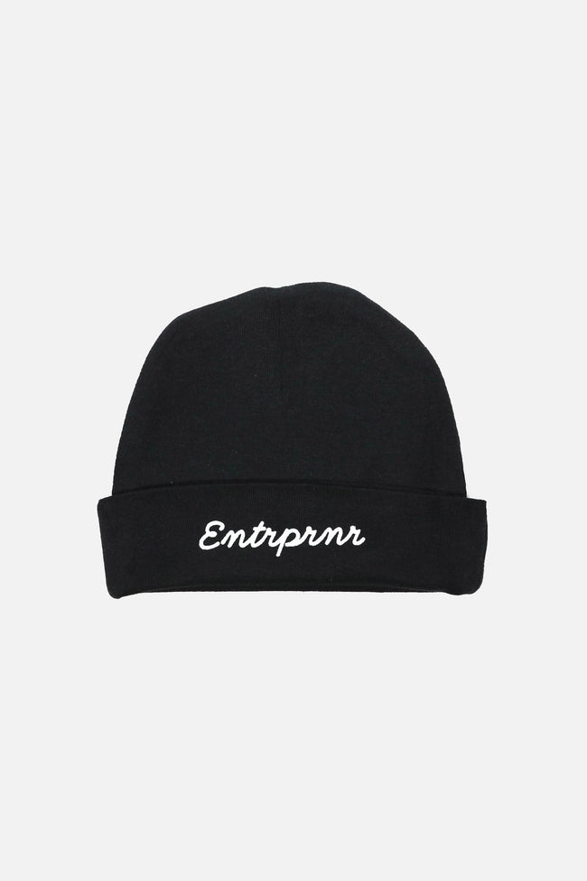 ENTRPRNR Infant Baby Rib Beanie - Black - ENTRPRNR® | The Entrepreneur's Clothing Brand. | Stagnancy is the Enemy. Action is King.
