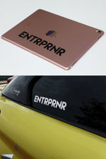Premium ENTRPRNR Logo Decals - ENTRPRNR® | The Entrepreneur's Clothing Brand. | Stagnancy is the Enemy. Action is King.