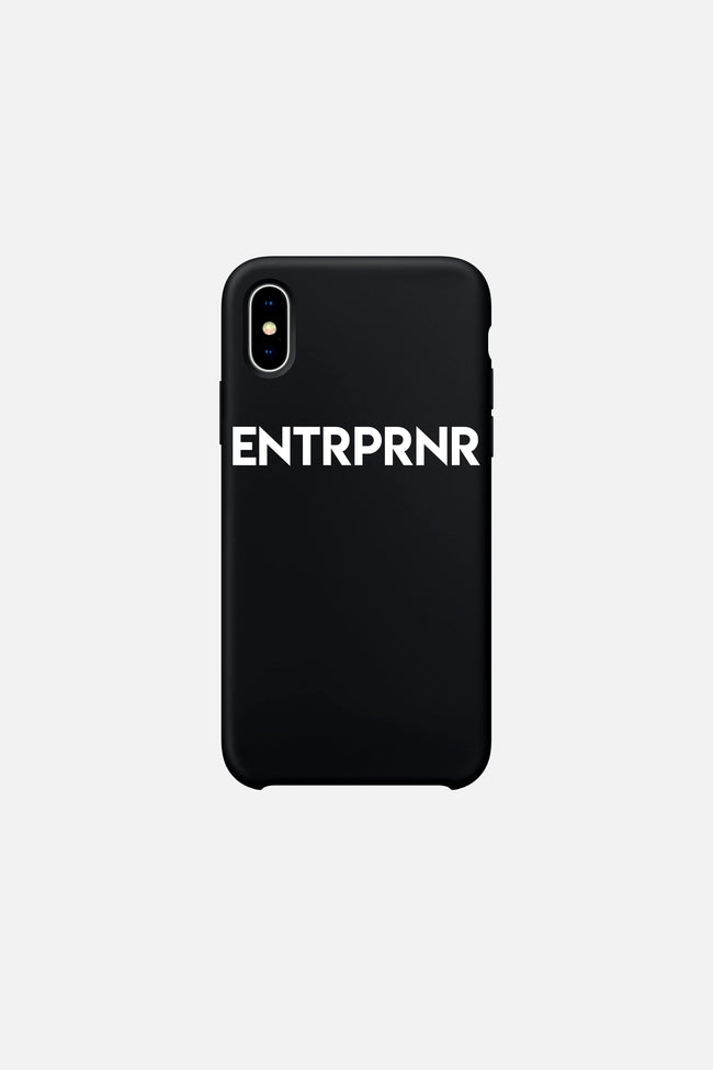 Signature ENTRPRNR iPhone X & Xs Case - Black - ENTRPRNR® | The Entrepreneur's Clothing Brand. | Stagnancy is the Enemy. Action is King.