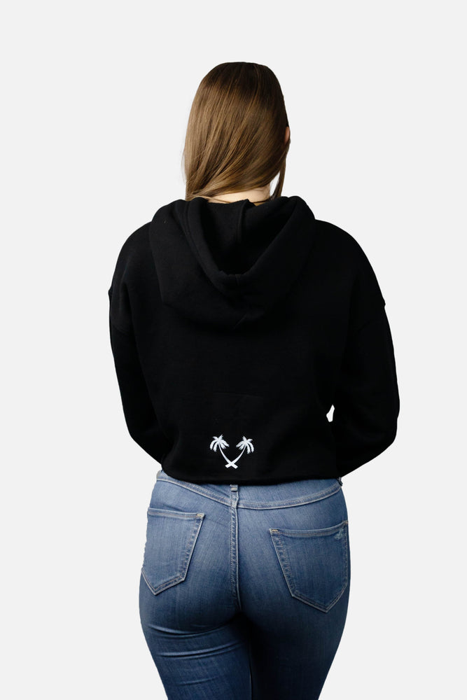 Women's Crop Top ENTRPRNR Hoodie - Black - ENTRPRNR® | The Entrepreneur's Clothing Brand. | Stagnancy is the Enemy. Action is King.