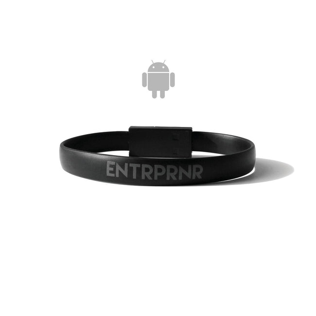 ENTRPRNR Micro USB Bracelet (Android) - Black - ENTRPRNR® | The Entrepreneur's Clothing Brand. | Stagnancy is the Enemy. Action is King.