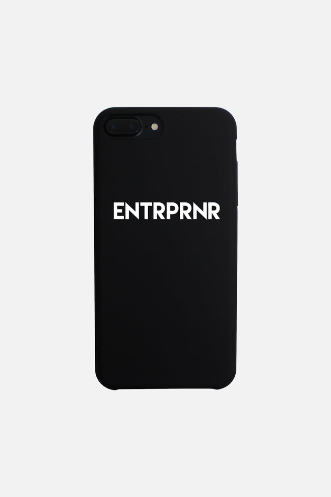 Signature ENTRPRNR iPhone 7 & 8 Case - Black - ENTRPRNR® | The Entrepreneur's Clothing Brand. | Stagnancy is the Enemy. Action is King.