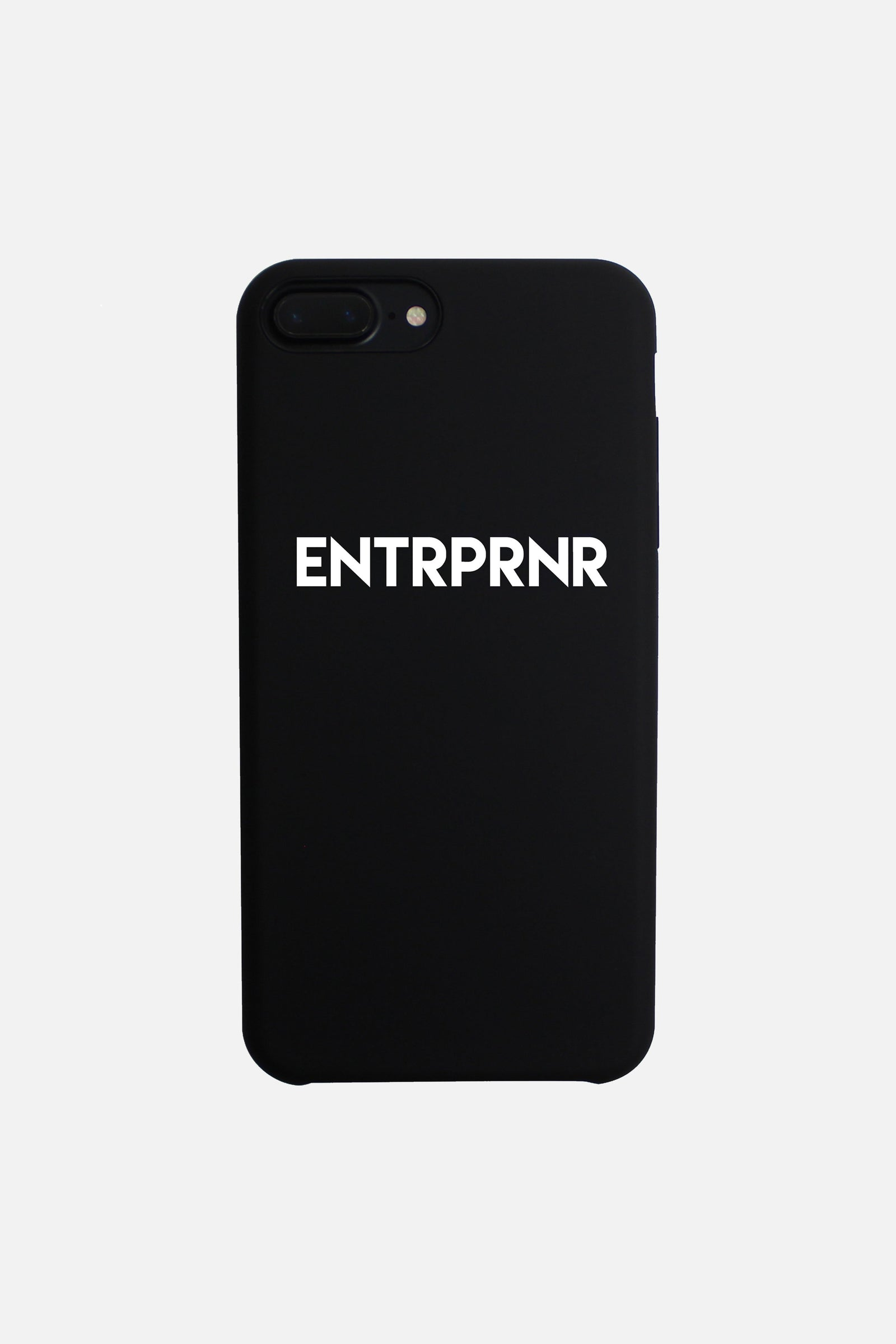 Signature ENTRPRNR iPhone 7+ & 8+ PLUS Case - Black - ENTRPRNR® | The Entrepreneur's Clothing Brand. | Stagnancy is the Enemy. Action is King.