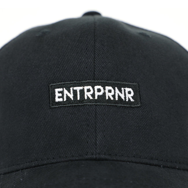 Classic Strap Back ENTRPRNR Hat - Black - ENTRPRNR® | The Entrepreneur's Clothing Brand. | Stagnancy is the Enemy. Action is King.