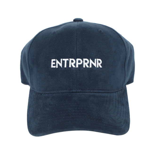 Logo Strap Back ENTRPRNR Hat - Navy - ENTRPRNR® | The Entrepreneur's Clothing Brand. | Stagnancy is the Enemy. Action is King.