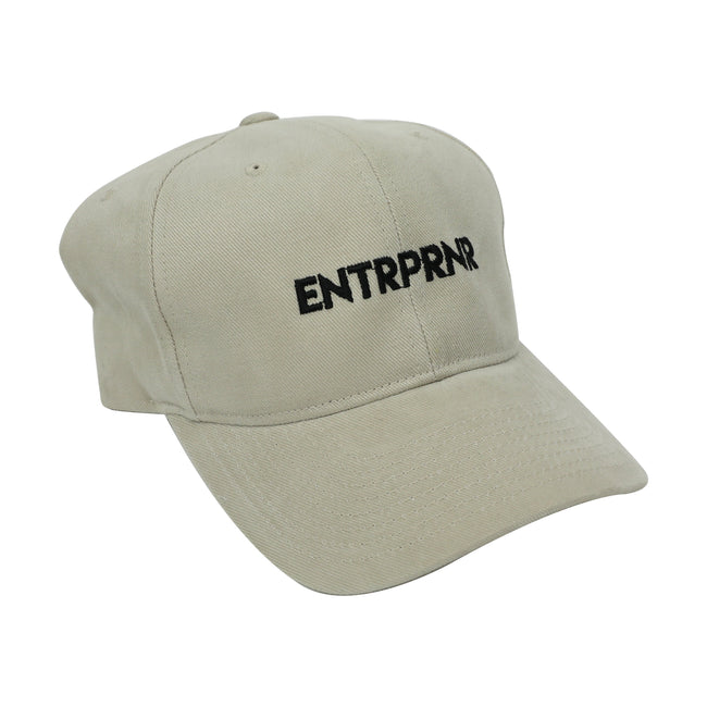 Logo Strap Back ENTRPRNR Hat - Sand - ENTRPRNR® | The Entrepreneur's Clothing Brand. | Stagnancy is the Enemy. Action is King.