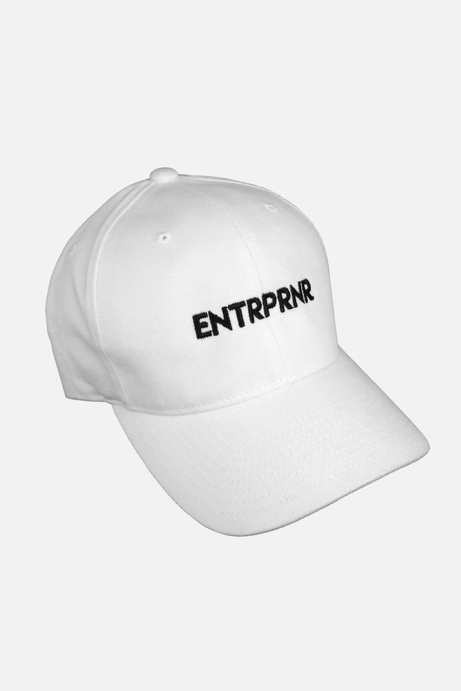 Logo Strap Back ENTRPRNR Hat – White - ENTRPRNR® | The Entrepreneur's Clothing Brand. | Stagnancy is the Enemy. Action is King.