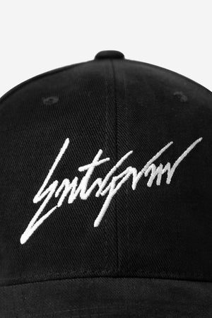 Load image into Gallery viewer, Script Strap Back Hat - Black - ENTRPRNR® | The Entrepreneur's Clothing Brand. | Stagnancy is the Enemy. Action is King.