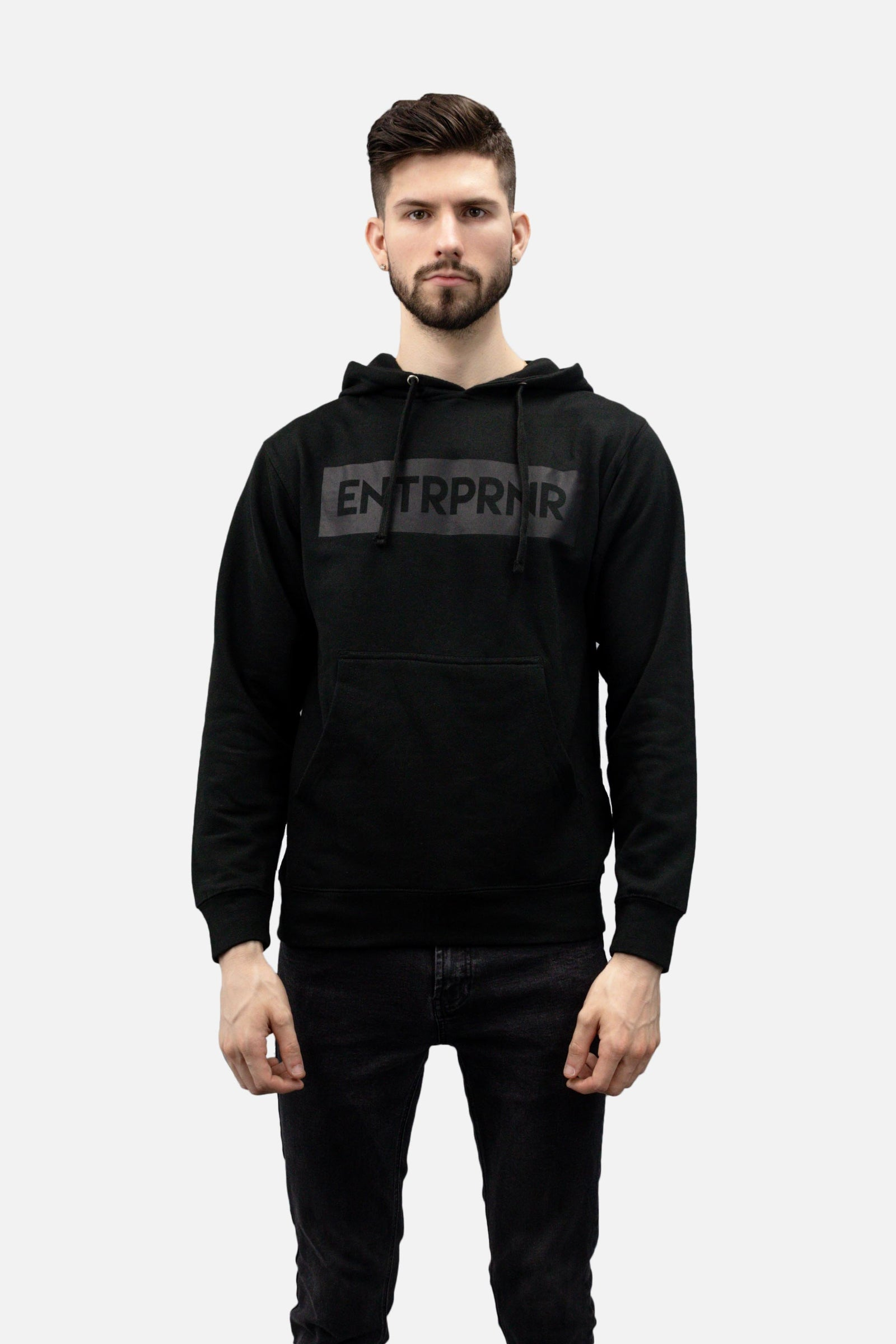 Classic ENTRPRNR Hoodie - Black - ENTRPRNR® | The Entrepreneur's Clothing Brand. | Stagnancy is the Enemy. Action is King.