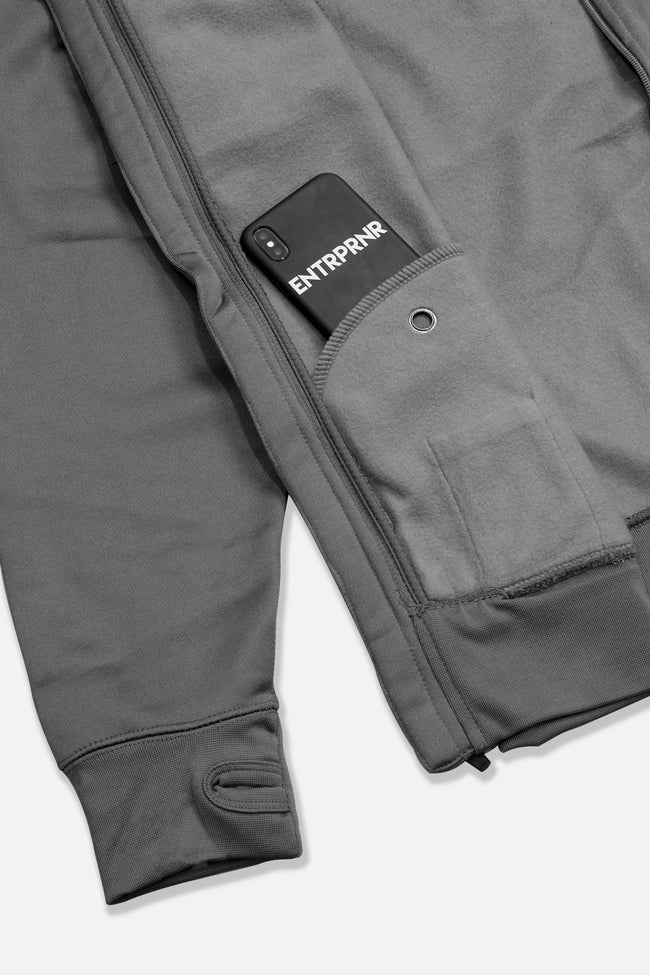 ENTRPRNR Premium Tech Jacket - Charcoal - ENTRPRNR® | The Entrepreneur's Clothing Brand. | Stagnancy is the Enemy. Action is King.