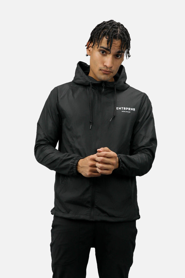 Outerwear - ENTRPRNR Worldwide Windbreaker - Black