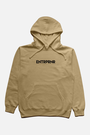 Logo ENTRPRNR Hoodie - Sand - ENTRPRNR® | The Entrepreneur's Clothing Brand. | Stagnancy is the Enemy. Action is King.