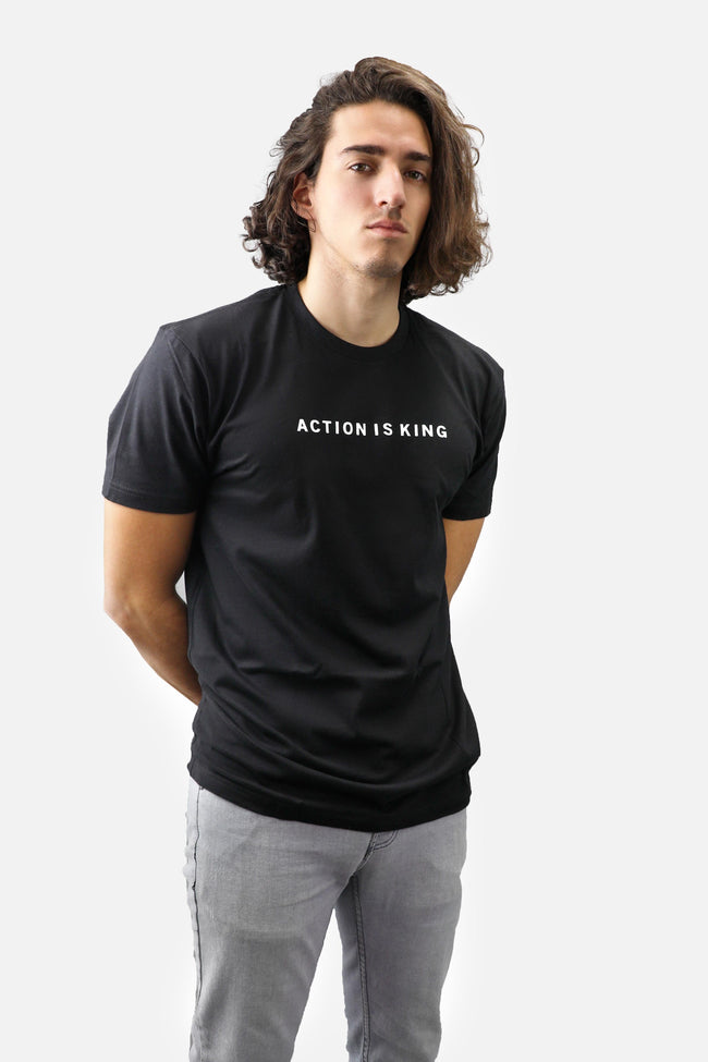Action is King ENTRPRNR Tee - Black - ENTRPRNR® | The Entrepreneur's Clothing Brand. | Stagnancy is the Enemy. Action is King.