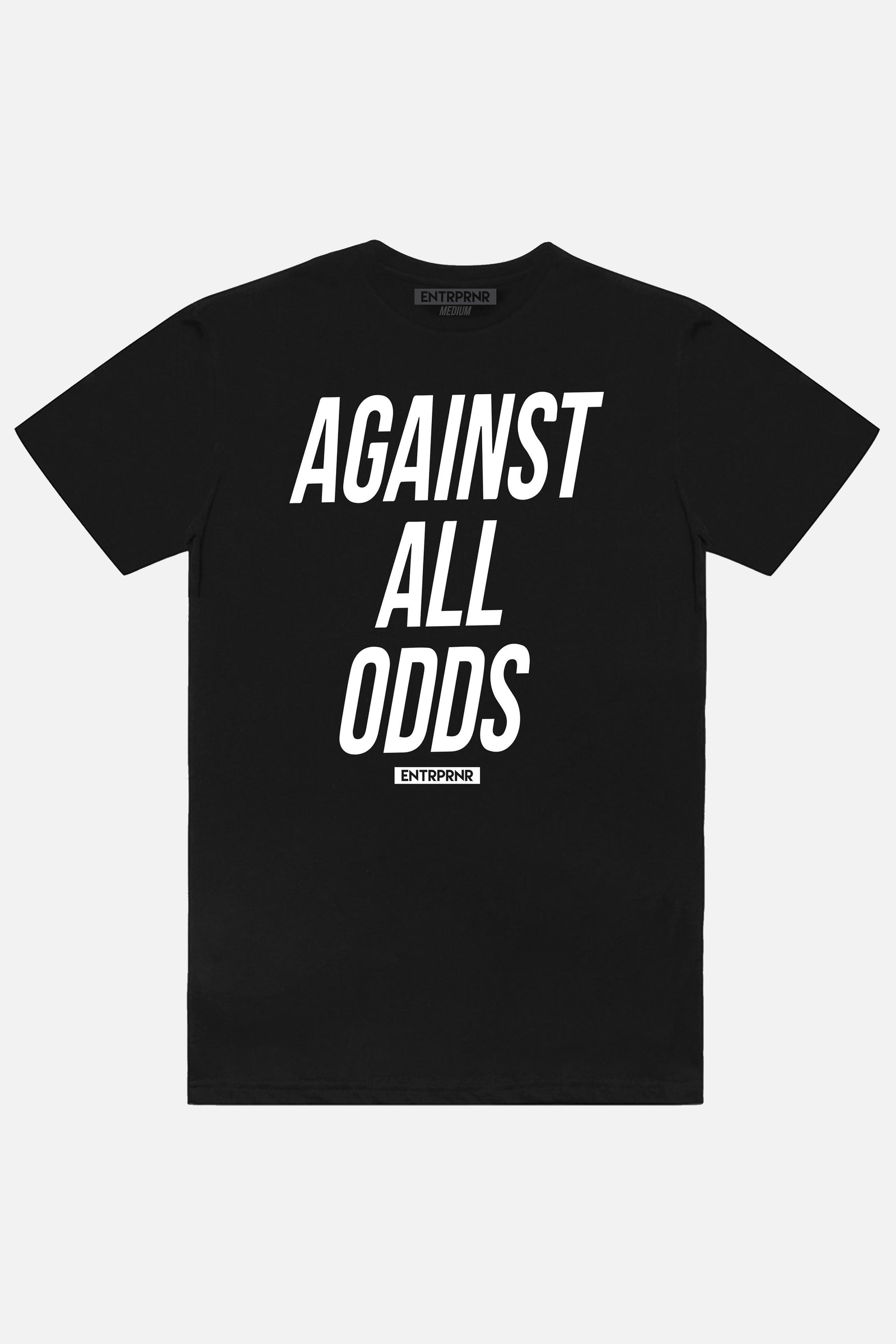 Against All Odds ENTRPRNR Tee - Black - ENTRPRNR® | The Entrepreneur's Clothing Brand. | Stagnancy is the Enemy. Action is King.
