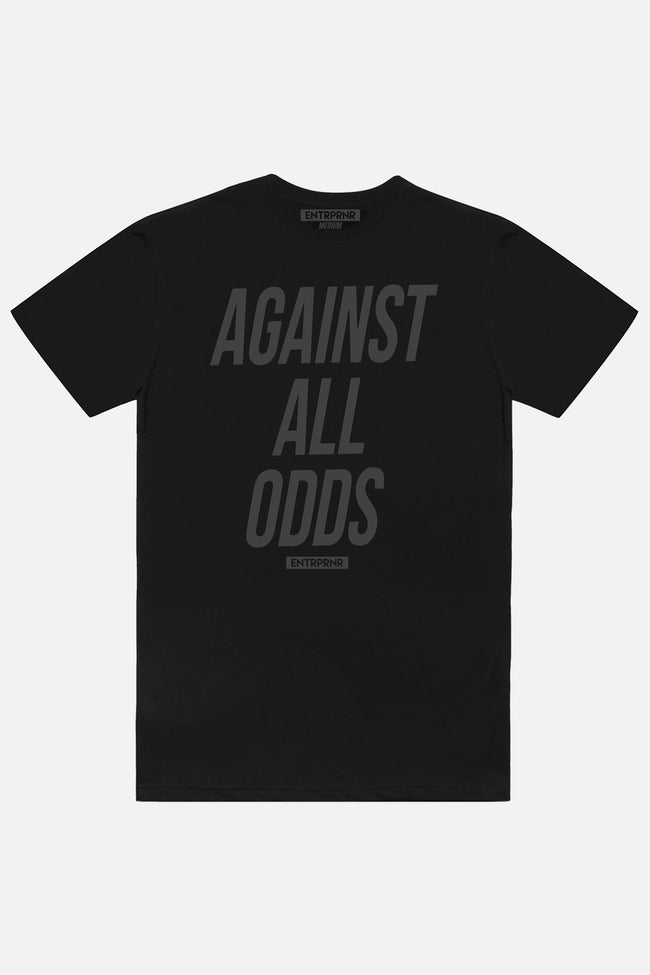 Against All Odds ENTRPRNR Tee - Blackout - ENTRPRNR® | The Entrepreneur's Clothing Brand. | Stagnancy is the Enemy. Action is King.