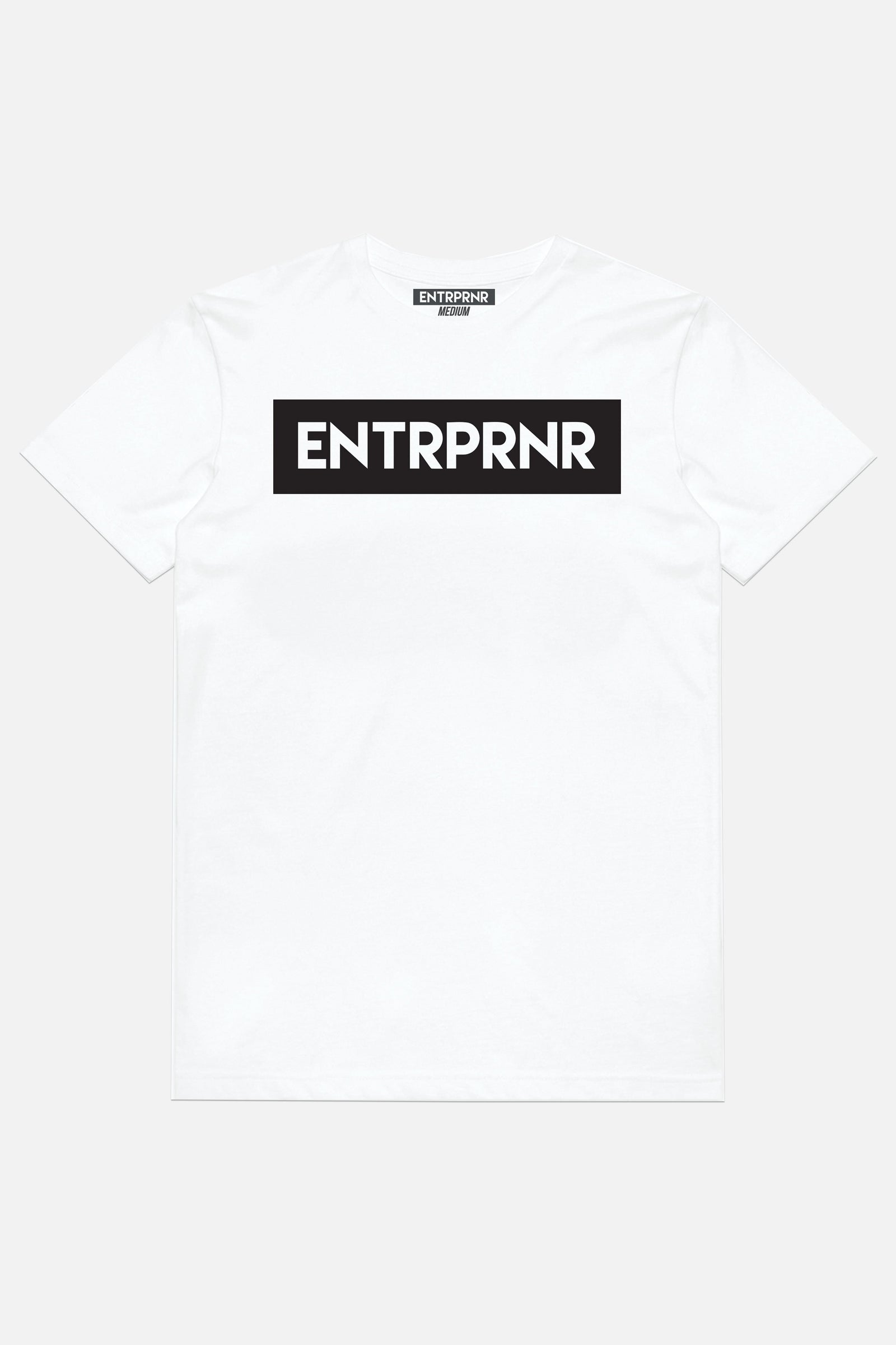 Classic ENTRPRNR Tee - White - ENTRPRNR® | The Entrepreneur's Clothing Brand. | Stagnancy is the Enemy. Action is King.