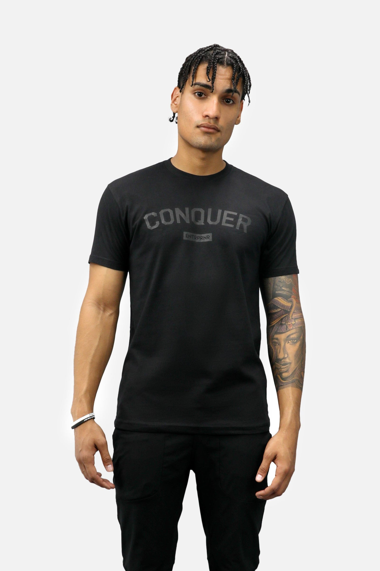 Conquer ENTRPRNR Tee – Blackout - ENTRPRNR® | The Entrepreneur's Clothing Brand. | Stagnancy is the Enemy. Action is King.
