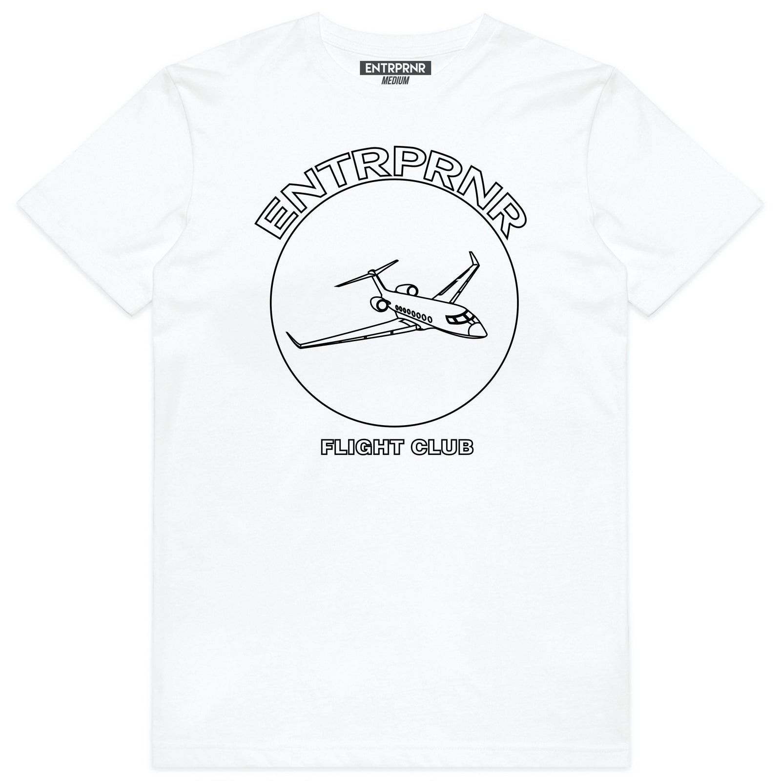 ENTRPRNR Flight Club Tee – White - ENTRPRNR® | The Entrepreneur's Clothing Brand. | Stagnancy is the Enemy. Action is King.