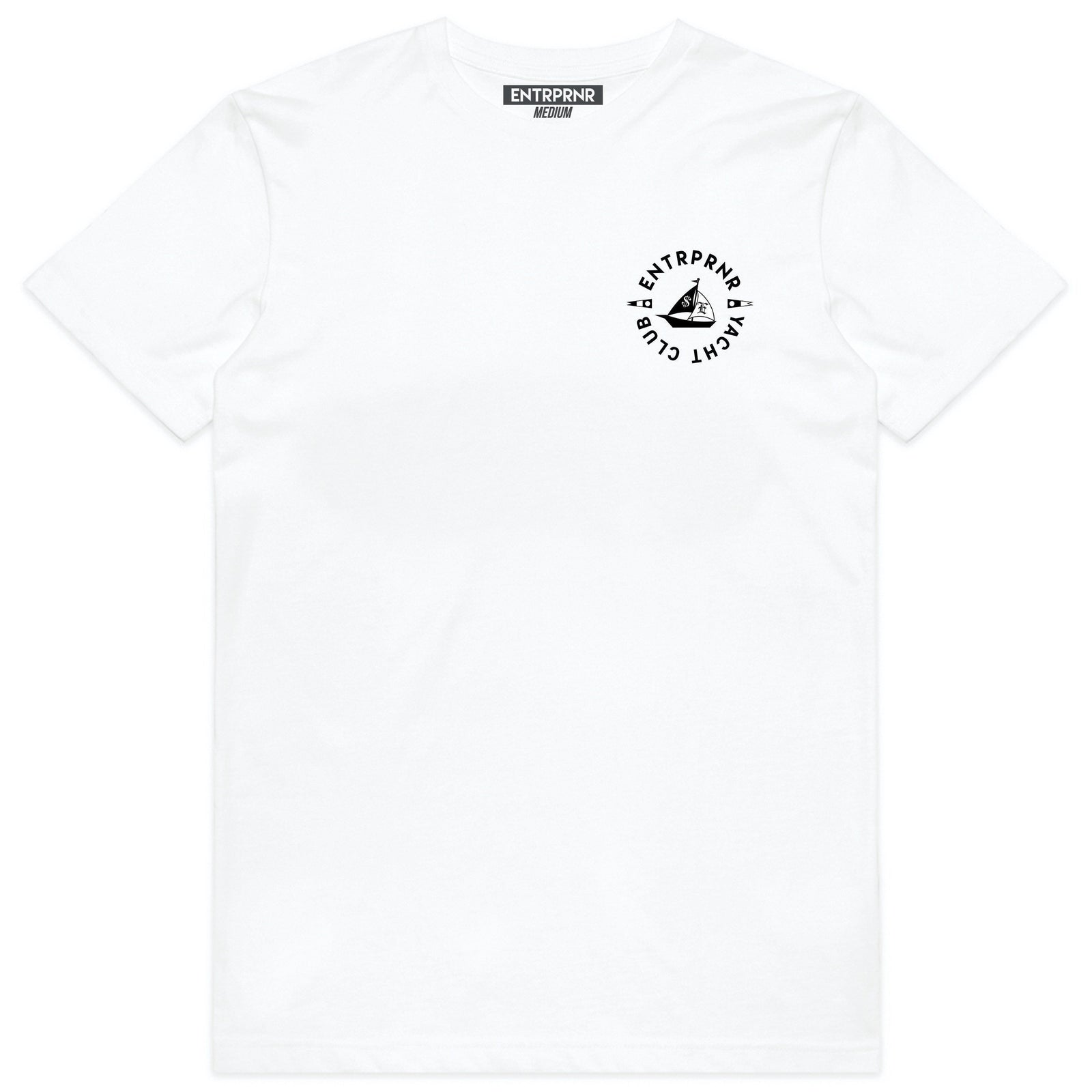 ENTRPRNR Yacht Club Tee - White - ENTRPRNR® | The Entrepreneur's Clothing Brand. | Stagnancy is the Enemy. Action is King.