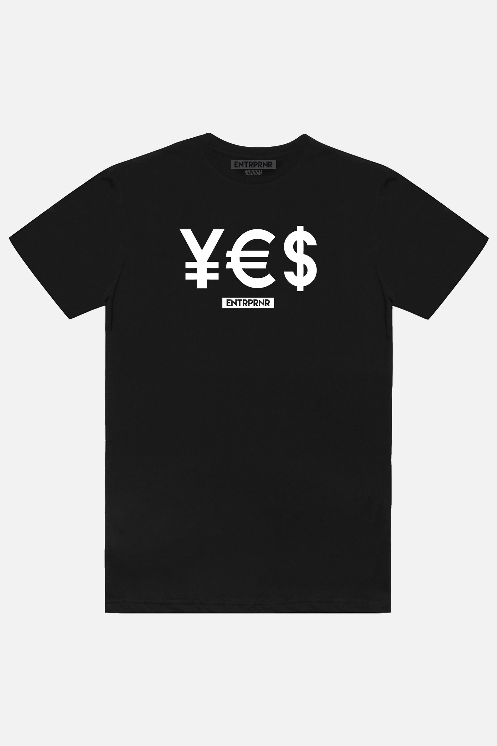 ENTRPRNR YES Tee - Black - ENTRPRNR® | The Entrepreneur's Clothing Brand. | Stagnancy is the Enemy. Action is King.