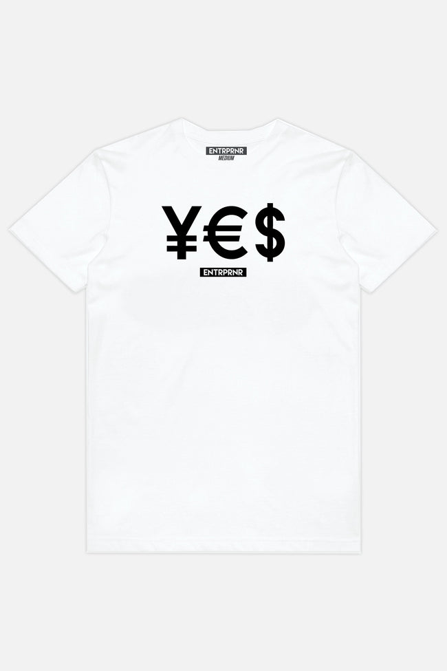 Shirts - ENTRPRNR YES Tee - White