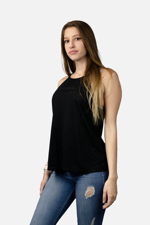 High Neck Logo Tank Top - Black - ENTRPRNR® | The Entrepreneur's Clothing Brand. | Stagnancy is the Enemy. Action is King.