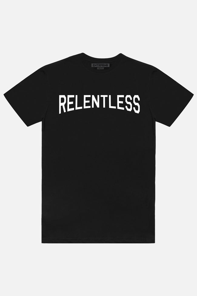 Relentless ENTRPRNR Tee - Black - ENTRPRNR® | The Entrepreneur's Clothing Brand. | Stagnancy is the Enemy. Action is King.