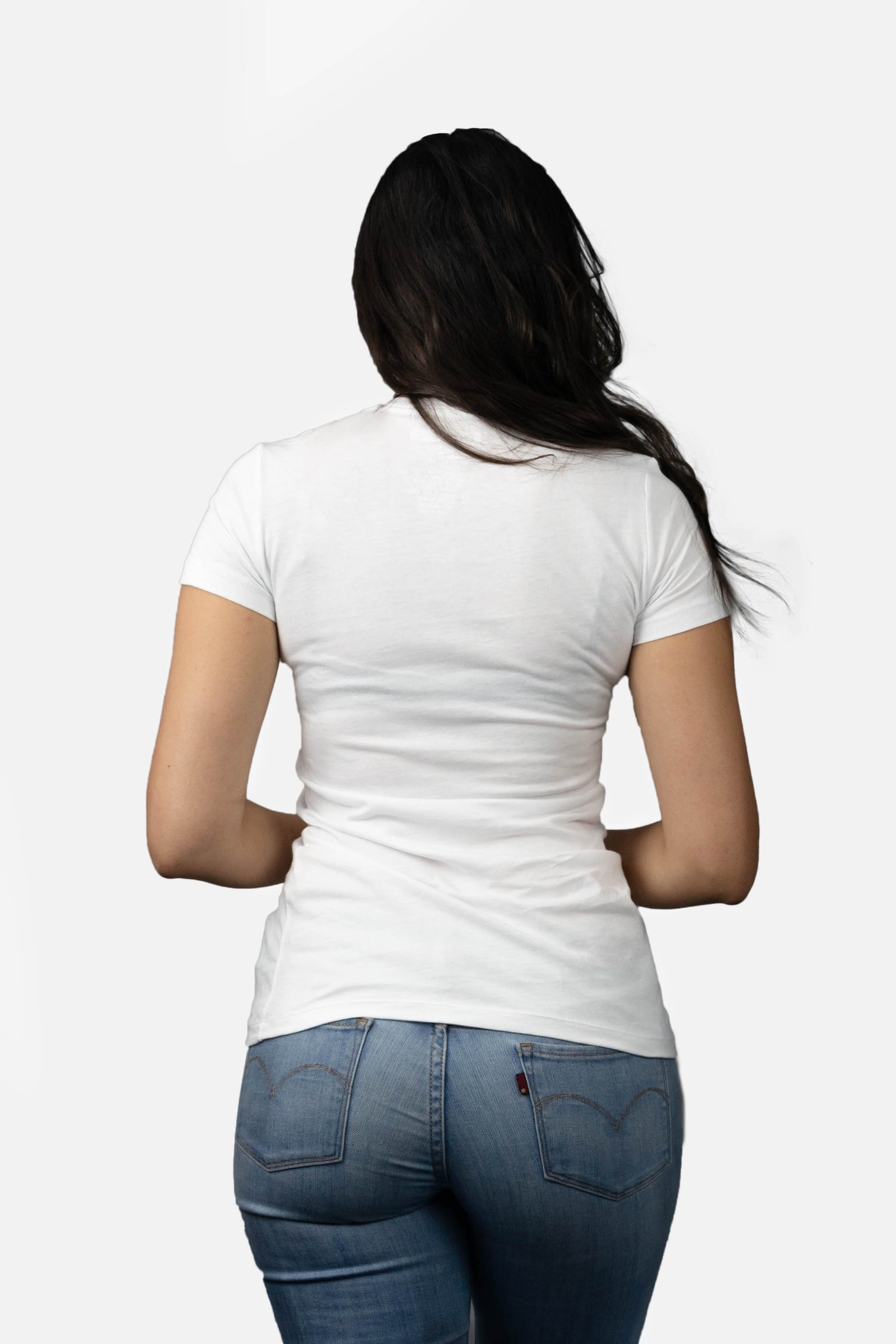 Womens Tiny Logo ENTRPRNR Tee – White - ENTRPRNR® | The Entrepreneur's Clothing Brand. | Stagnancy is the Enemy. Action is King.