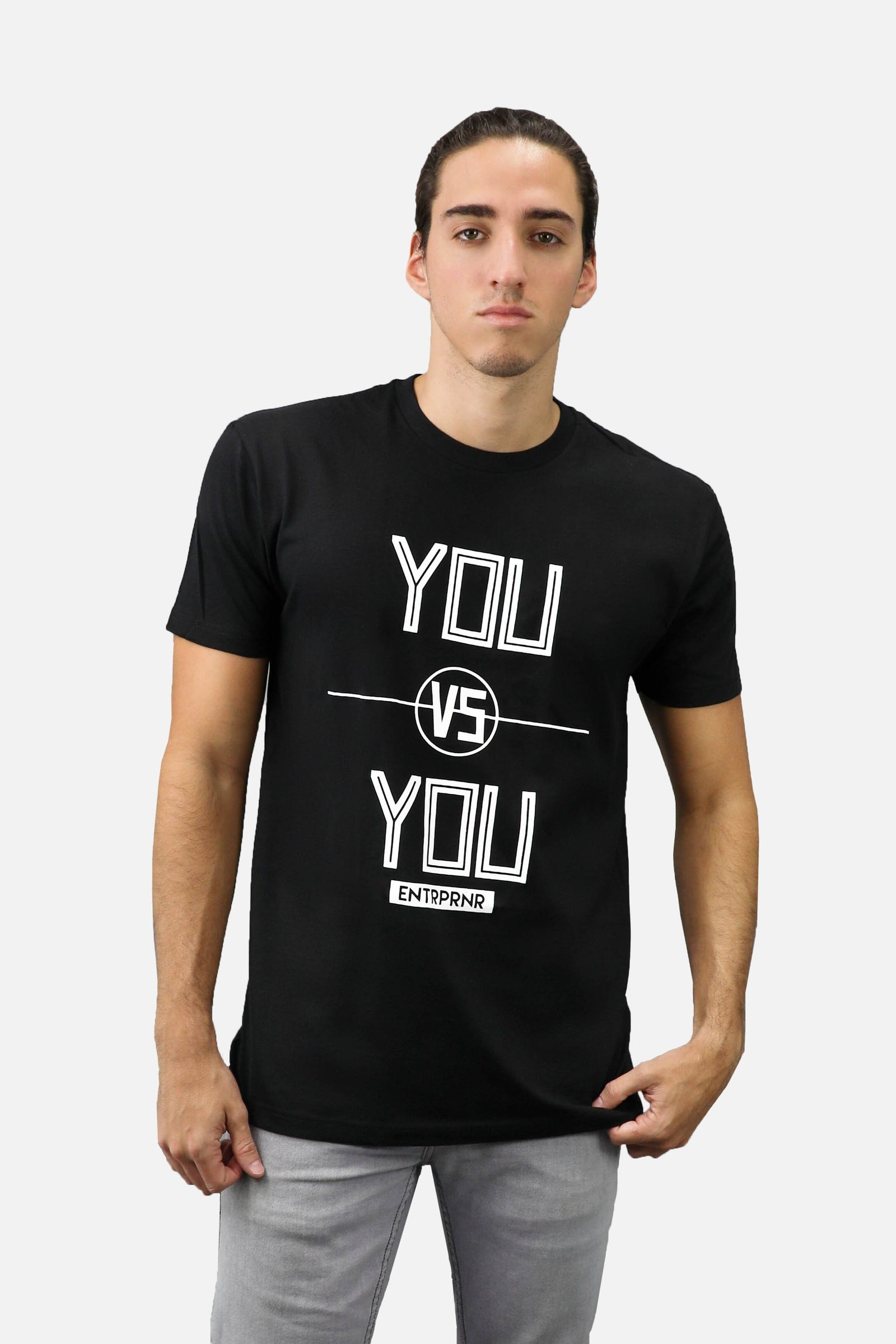 You vs. You ENTRPRNR Tee – Black - ENTRPRNR® | The Entrepreneur's Clothing Brand. | Stagnancy is the Enemy. Action is King.